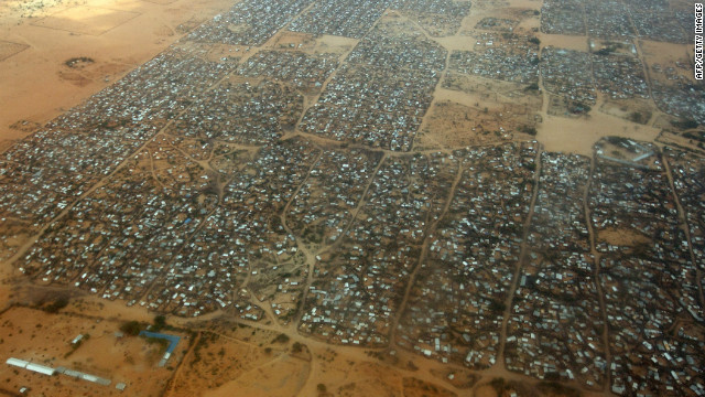 Photo: BBC. Dhadhaab Refugee Camp. www.kismaayodaily.com - your gateway of Somali news around the world.