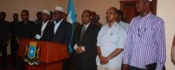 Photo: Radio Mogadisho. Sawirka Maalintii xilka Ra'isulwasaarenimo loo magacaabay Ra'isulwasaare C/weli Maanta oo Kale sanad ka hor/ Get Somali news around the world at www.kismaayodaily.com