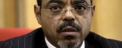 Photo: BBC. Mr Meles had not been seen in public since July. www.kismaayodaily.com - your gateway of Somali news around the world.