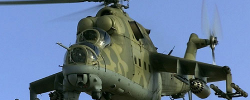 Photo: NewVision. Mi 24 attack helicopter like the those that crashed. www.kismaayodaily.com - your gateway of Somali news around the world.