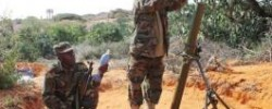 African Union soldiers load mortar rounds in Lanta Buro, an alleged former Al-Shabab training camp west of Mogadishu (AFP/File, Mohamed Abdiwahab)