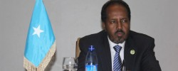 Photo: Radio Mogadisho. The 1st speech - breaks the silence - president finally realized that he can't continue silent strategy; therefore, communication must be part of his leadership. www.kismaayodaily.com - your gateway of Somali news around the world
