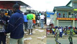 "• LOOTERS ransack Somali-owned shops in Ndola.The sight was not different in the town centre where Somali-owned shops were looted, in turn providing citizens with a variety of goods ranging from foodstuff to household appliances. ""Hantiyey Macaan Waa Midaan Hoy Lagaa Oranee"" www.kismaayodaily.com - your gateway of African Social issues news."