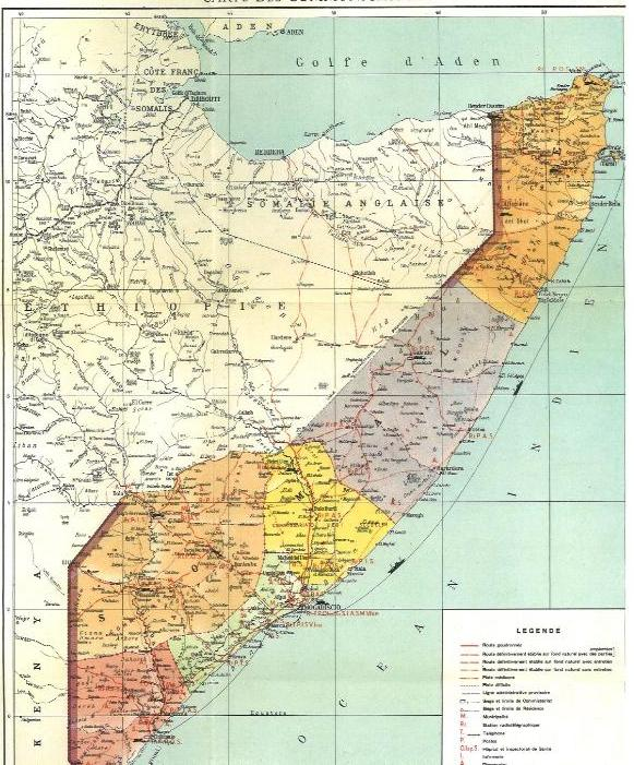 Map_Showing_the_Benadir (UN Doc 1952). Photo by: FOUNDATION OF THE UNITED BENADIR AND DHOWOY STATE (the voice of the voiceless) – www.kismaayodaily.com – the your gateway of Somali and Somali Indigenous news that matters around the world.