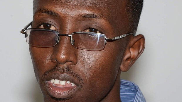 Unwelcome message ... Somali journalist Abdiaziz Abdinuur, 25, will remain in jail for six months for reporting a rape allegation. Photo: AFP/Mohamed Abdiwahab. www.kismaayodaily.com - your gateway of Somali news around the world.