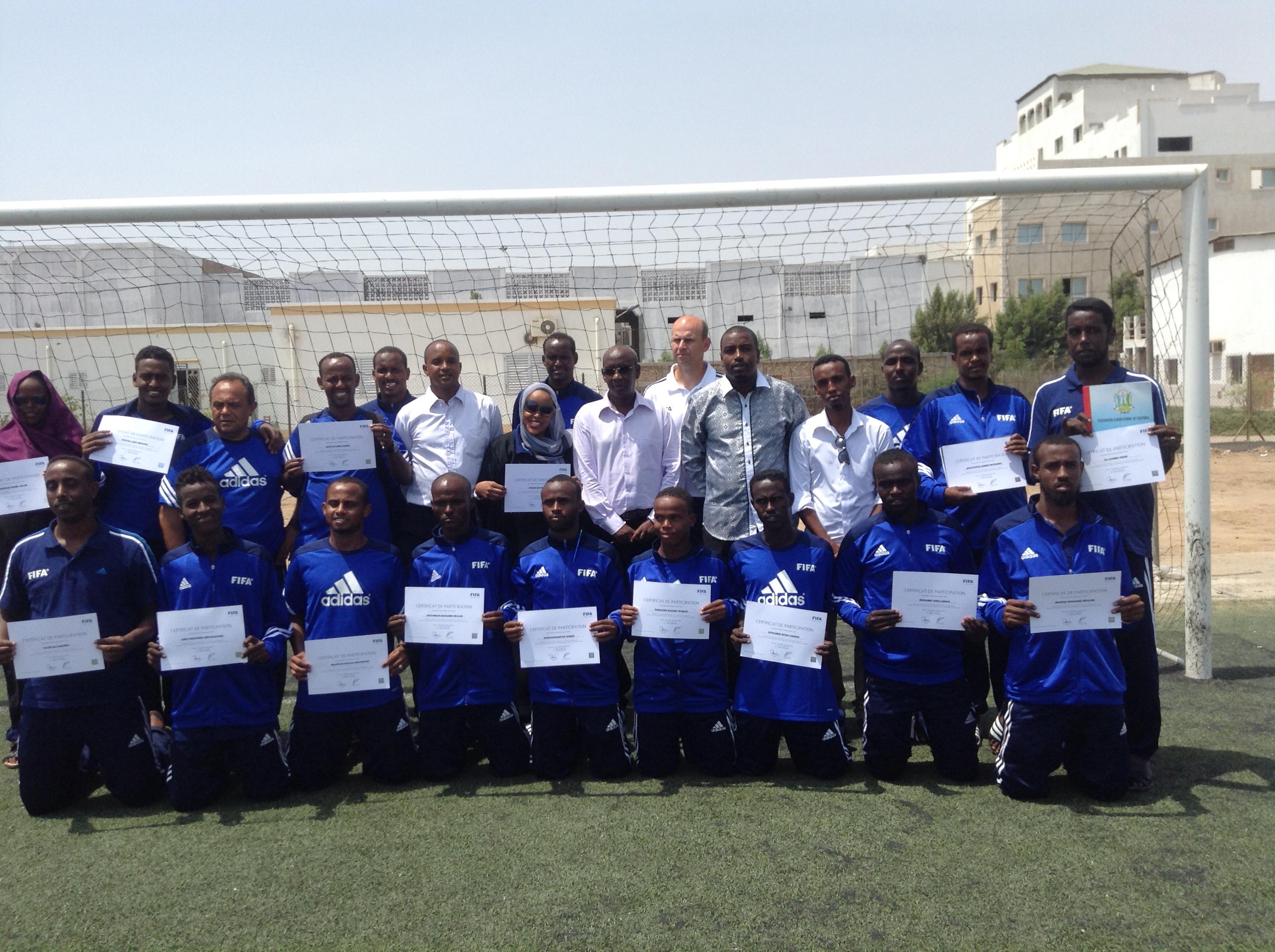 Photo: SSF/DFF-MD  www.kismaayodaily.com - your gate way of Somali/Djibouti Sports news around the world