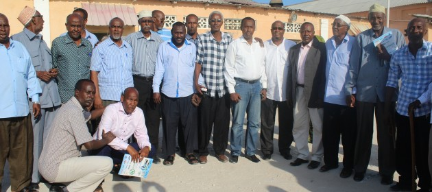 SFF president Abdiqani Said Arb  6th from right pictured with former players and former referees PHOTO | Somali Football Federation Media Department,  www.kismaayodaily.com - your gate way of Somali/Djibouti Sports news around the world
