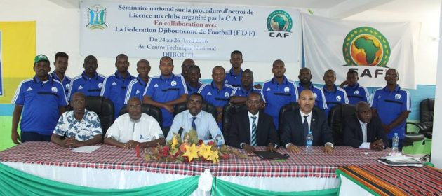 FDF officials and CAF instructors pictured with the workshop participants PHOTO | SFF.  www.kismaayodaily.com - your gate way of Somali/Djibouti Sports news around the world