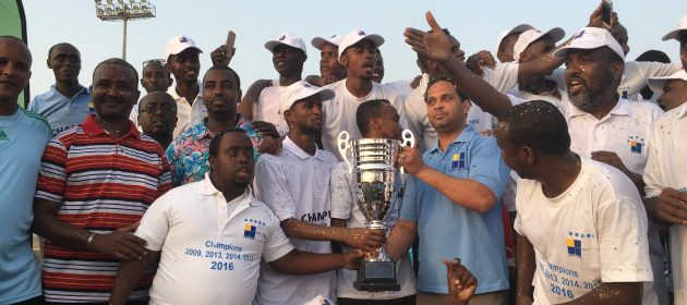 Djibouti Telecom FC celebrate their 4th successive national league title on Friday 20th of May 2016 PHOTO CECAFA Media PHOTO | SFF.  www.kismaayodaily.com - your gate way of Somali/Djibouti Sports news around the world