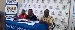 CECAFA Secretary General Nicholas Musonye CECNTRE talks to the media on Saturday September 17 2016 at the Technical Cnetre of Uganda FA   www.kismaayodaily.com - your gate way of Somali/Djibouti Sports news around the world