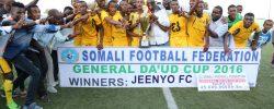 Jeenyo FC Celebrate-2016 General Daud Cup Trophy PHOTO | by SFF Media Dept.  www.kismaayodaily.com - your gate way of Somali/Djibouti Sports news around the world,